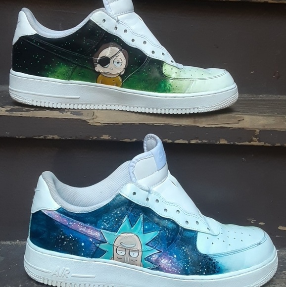 Custom Rick and Morty Air force 1's